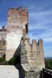 ramparts för slottitaly marostica royaltyfri foto