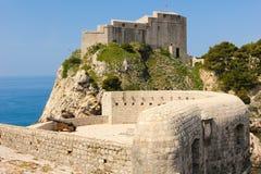 Ramparts and Fort Lovrijenac. Dubrovnik. Croatia Stock Image