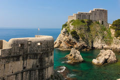 Ramparts and Fort Lovrijenac. Dubrovnik. Croatia Stock Photos