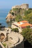Ramparts and Fort Lovrijenac. Dubrovnik. Croatia Stock Photos