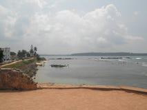 Ramparts Galle Sri Lanka. Dutch Fort clock tower Royalty Free Stock Photo