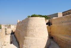 Ramparts in the island of Malta Stock Photo