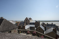 Ramparts in Mont Saint Michel, France Stock Image