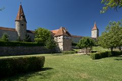 The Ramparts of Rothenburg ob der Tauber Stock Photography