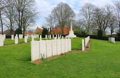 Ramparts World War One Commonwealth War Cemetery. In Ypres, Belgium Royalty Free Stock Photos