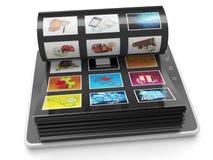 Rampe d'image du PC de tablette Photographie stock libre de droits