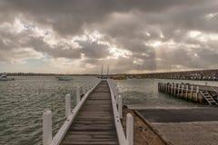 Rampe de bateau de Warrnambool Images stock