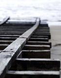 Rampe de bateau sur la plage Photographie stock libre de droits