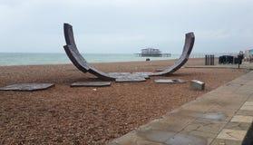 Rampe de patin de Brighton, le Sussex occidental, R-U Photos stock