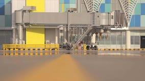 Rampe de porte d'aéroport banque de vidéos