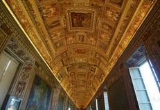 Rampe des cartes. Musées de Vatican Image libre de droits
