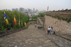 Rampe des Zhonghua-Gatters in Nanjing Stockbild