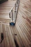 Rampe di legno della plancia per gli handicappati Fotografia Stock
