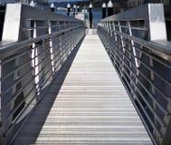 Rampe en aluminium de dock Images stock