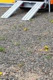 Rampe für Rollstuhlgeländewagen Stockfotos