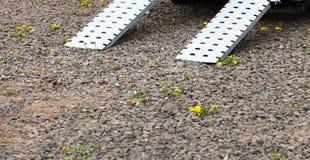 Rampe für Rollstuhlgeländewagen Stockfoto