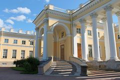 Rampe am linken Flügel Alexander Palace Pushkin-Stadt stockfotografie