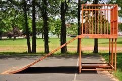 Rampe sautante sur le parc Photos libres de droits