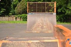Rampe sautante sur le parc Photographie stock