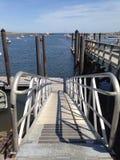 Rampe zum Dock Stockfotografie