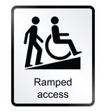 Ramped Access Information Sign stock illustration