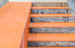 Ramped access, wheelchair ramp using for disabled people. Royalty Free Stock Photo