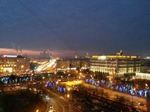 Rampements de ville de nuit images libres de droits