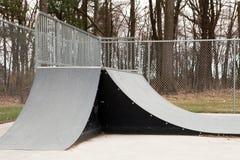 Rampes de parc de patin Images libres de droits