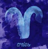 Rampictogram van dierenriem, vectorillustratiepictogram astrologische tekens, beeld van horoscoop Water-kleur stijl Stock Afbeelding