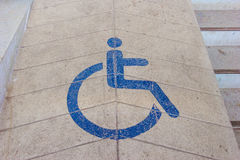 Ramps for disabled using wheelchair Stock Photo