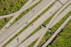 On-Ramps e Off-Ramps de tecelagem da estrada Fotos de Stock Royalty Free