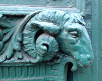 Rams head architectural detail Royalty Free Stock Image
