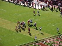 Rams Kicker Punts football down field royalty free stock images