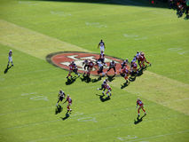 Rams QB Sam Bradford sets to throw deep Stock Image
