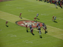 Rams QB Sam Bradford sets to throw during play Royalty Free Stock Image