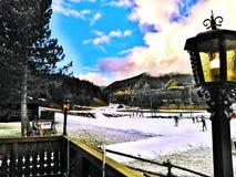 Ramsau au dachstein, austriacki ośrodek narciarski obraz royalty free