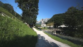 Ramsau church stock video footage