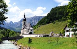 Ramsau church Royalty Free Stock Photography