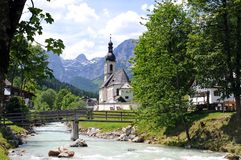 Ramsau church Royalty Free Stock Image