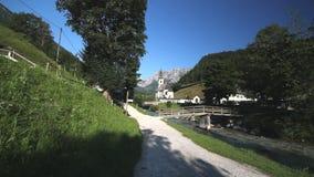 Ramsau-Kirche stock video footage
