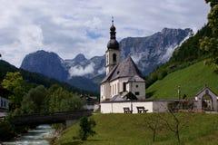 ramsau kościelny farny st Sebastian Zdjęcia Royalty Free