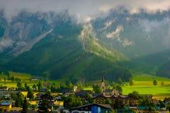 Ramsau morgens Dachstein Stockbild