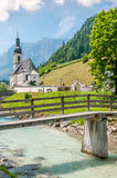 Ramsau. Nice church and the environment in a small village Royalty Free Stock Images