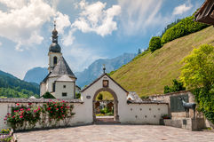 Ramsau. Nice church in a small village Stock Images
