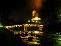 Ramsau by night royalty free stock images