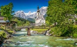 Ramsau, terra di Berchtesgadener, Baviera, Germania Fotografia Stock