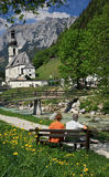 Ramsau Village In The Alps Stock Photos