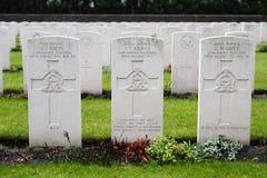 Ramscappelle Drogowy Militarny cmentarz Fotografia Stock
