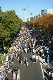 Ramschverkauf-Straße Frankreich im Freien stockbilder