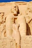 Ramses II bei Abu Simbel Stockfotografie